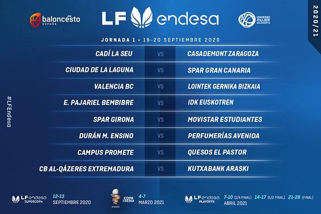 Calendario Liga Femenina Endesa 2020/2021